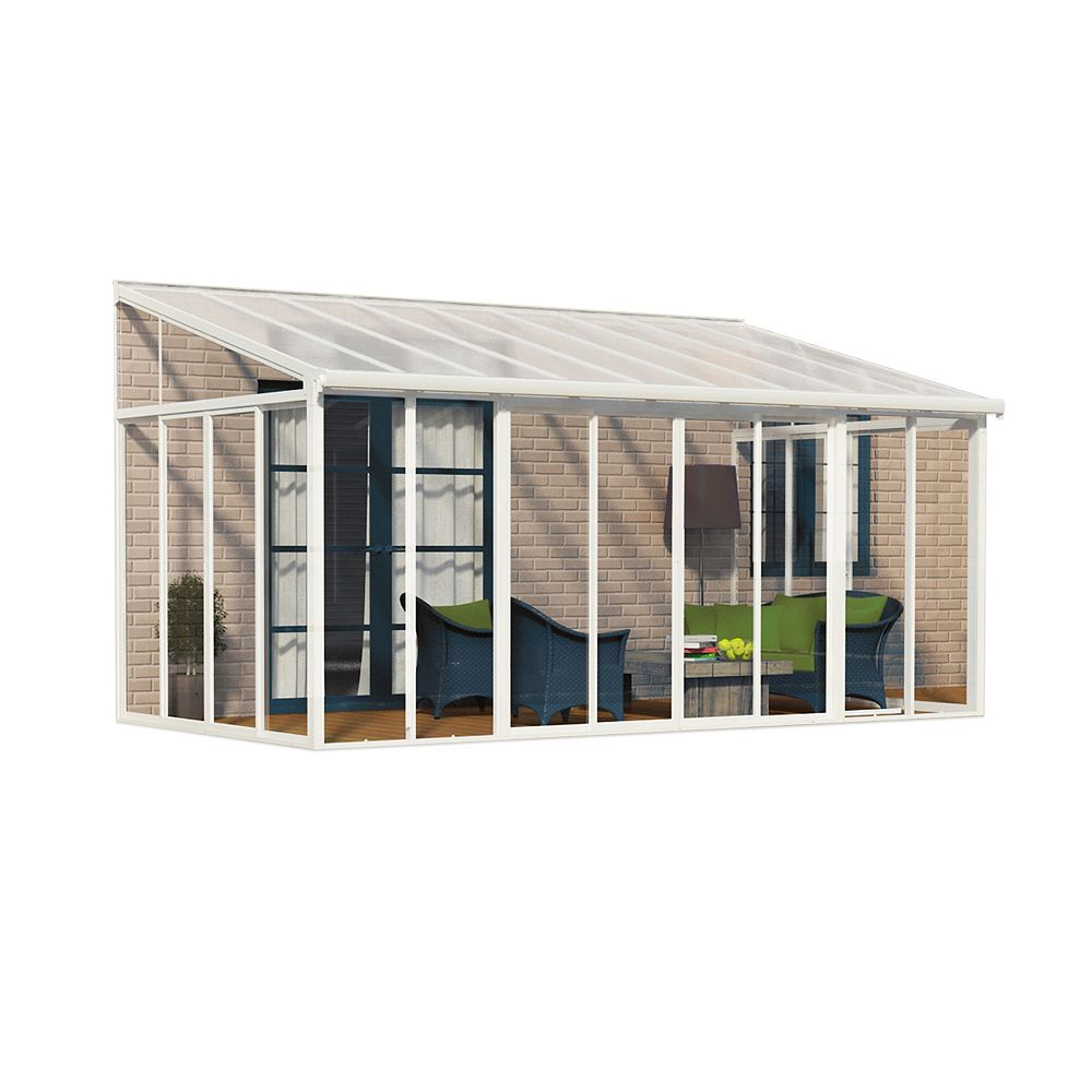 Palram San Remo 10 Ft X 18 Ft Patio Enclosure The Home Depot Canada