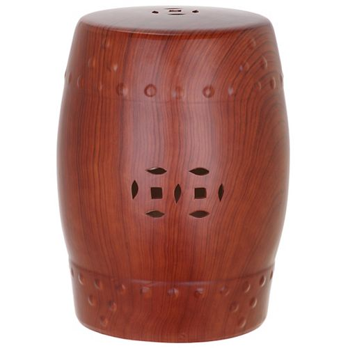 Ming Forest Garden Stool in Red