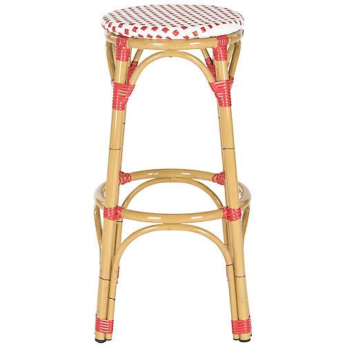 Tabouret Intérieur/Extérieur Kipnuk en finition Rouge / Blanc