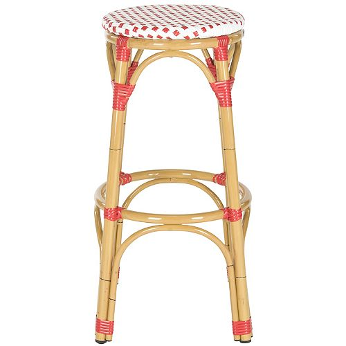 Kipnuk Indoor/Outdoor Stool in Red and White