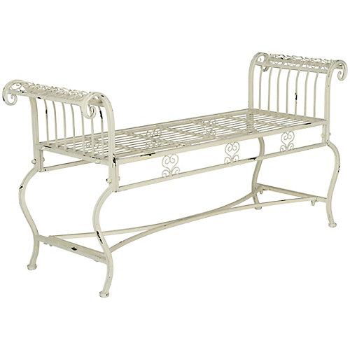 Brielle Patio Bench in Antique White