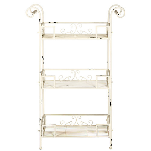 Noreen 3-Tier Shelf in Antique White