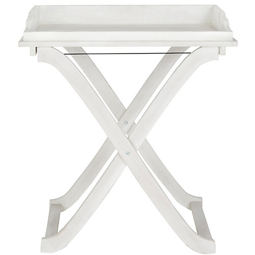 Covina Tray Table in Antique White