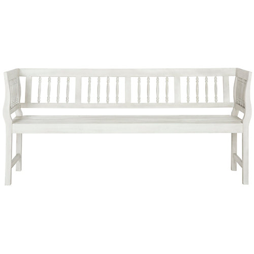 Brentwood Patio Bench in Antique/White