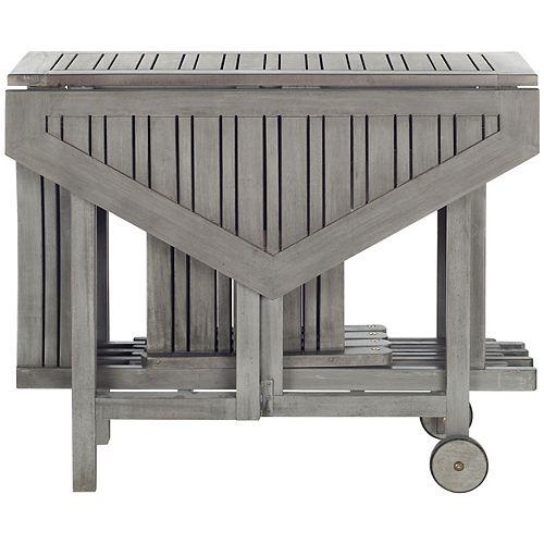 Table et Ensemble de 4 Chaises Kerman en finition Gris Lavé