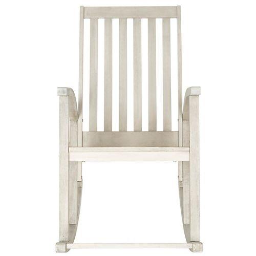 Chaise berçante Clayton en finition Blanc Lavé