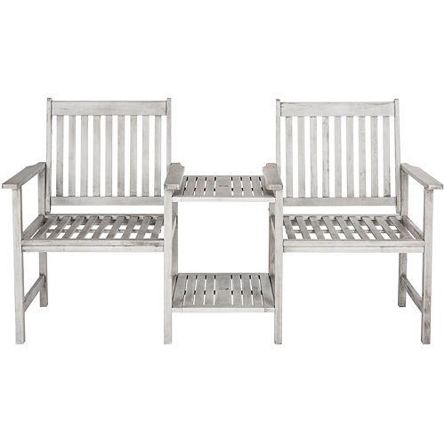 Safavieh Brea Twin Seat Bench in Grey