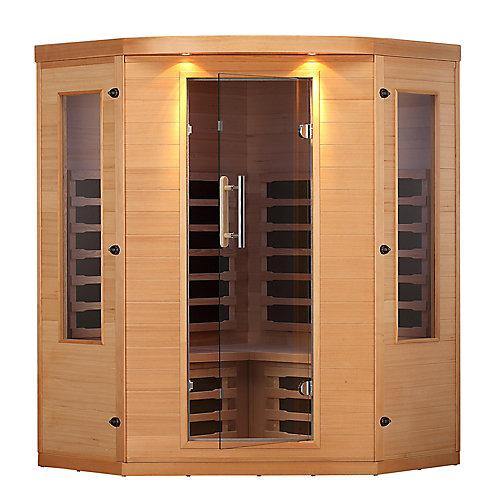 Aspen 4 Person Far Infrared Corner Sauna
