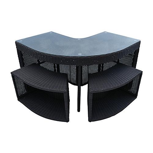 Corner Bar & 2 Stools - Square Spa Surround Furniture