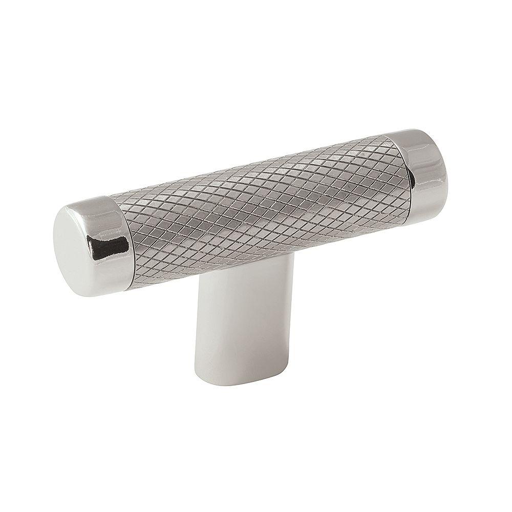 Amerock Bouton 2-5/8 po (67mm) LGTH Esquire - Nickel poli/acier inoxydable