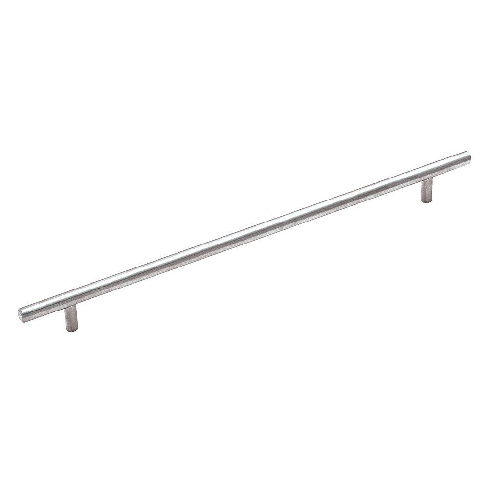 Amerock Bar Pulls 12-5/8 Inch (320mm) CTC Pull - Sterling Nickel