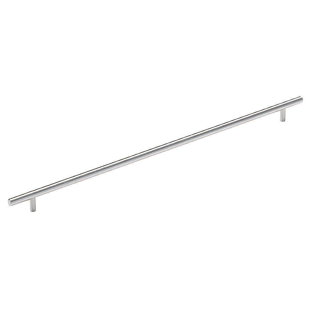 Amerock Bar Pulls 18-7/8 Inch (480mm) CTC Pull - Sterling Nickel