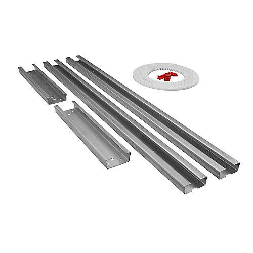 12 pi. Kit de rallonge d'entraînement par courroie de rail