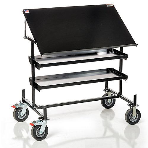Wire Wagon 550 - Table dimpression et poste de travail mobile