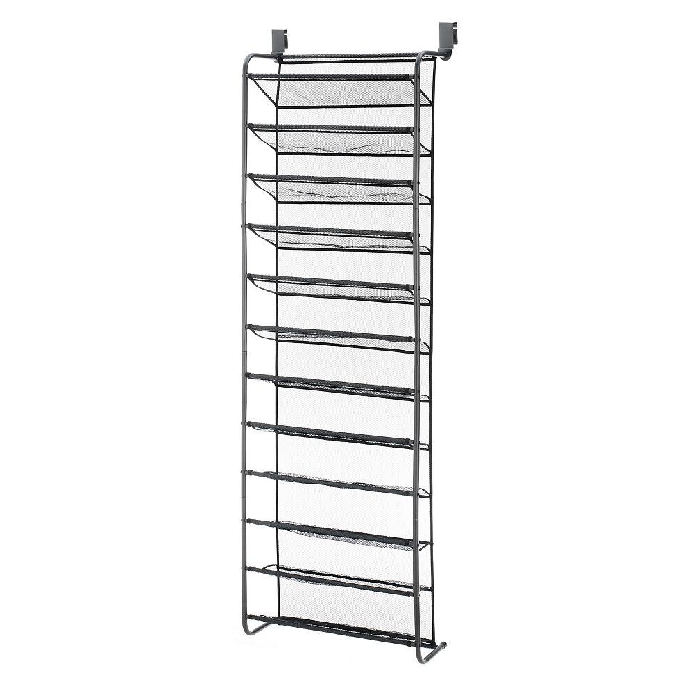 Whitmor 36 Pair Over-The-Door Shoe Rack with Mesh Shelves