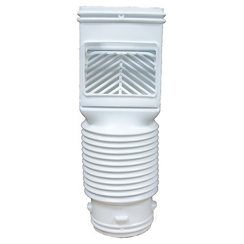 Flex-Grate Downspout Filter White