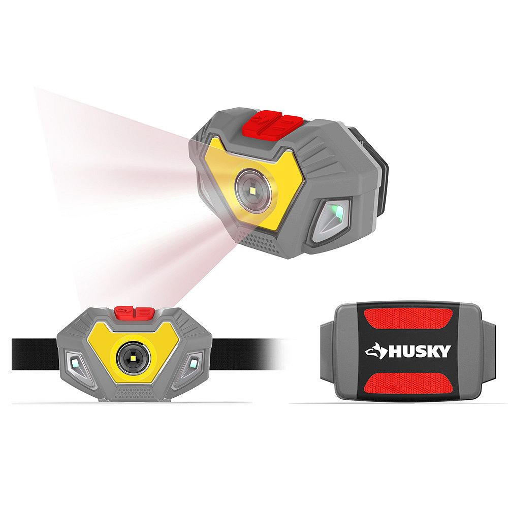 Husky 4AAA 300-Lumen LED Dual Beam Unbreakable Headlight