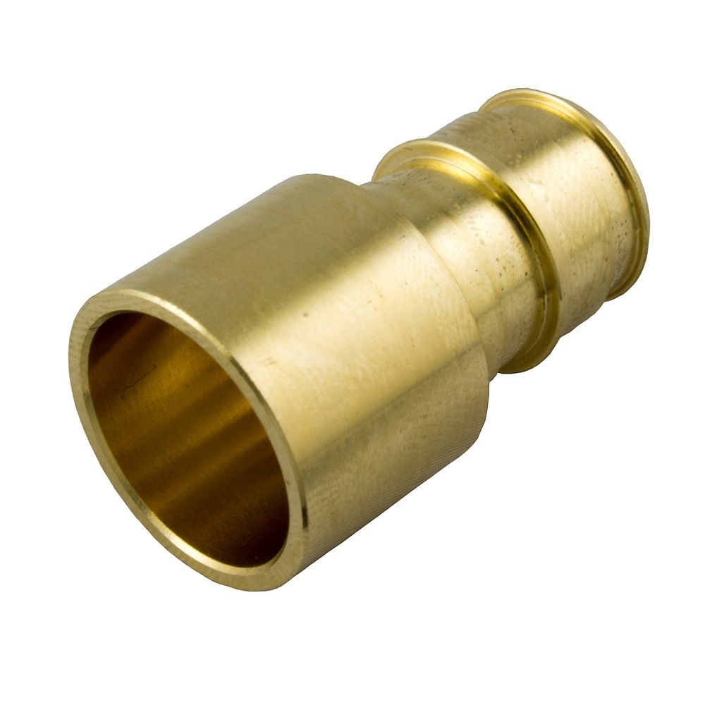 Waterline 1/2 inch Female Sweat X 1/2 inch Cold Expansion Pex Brass Adapter