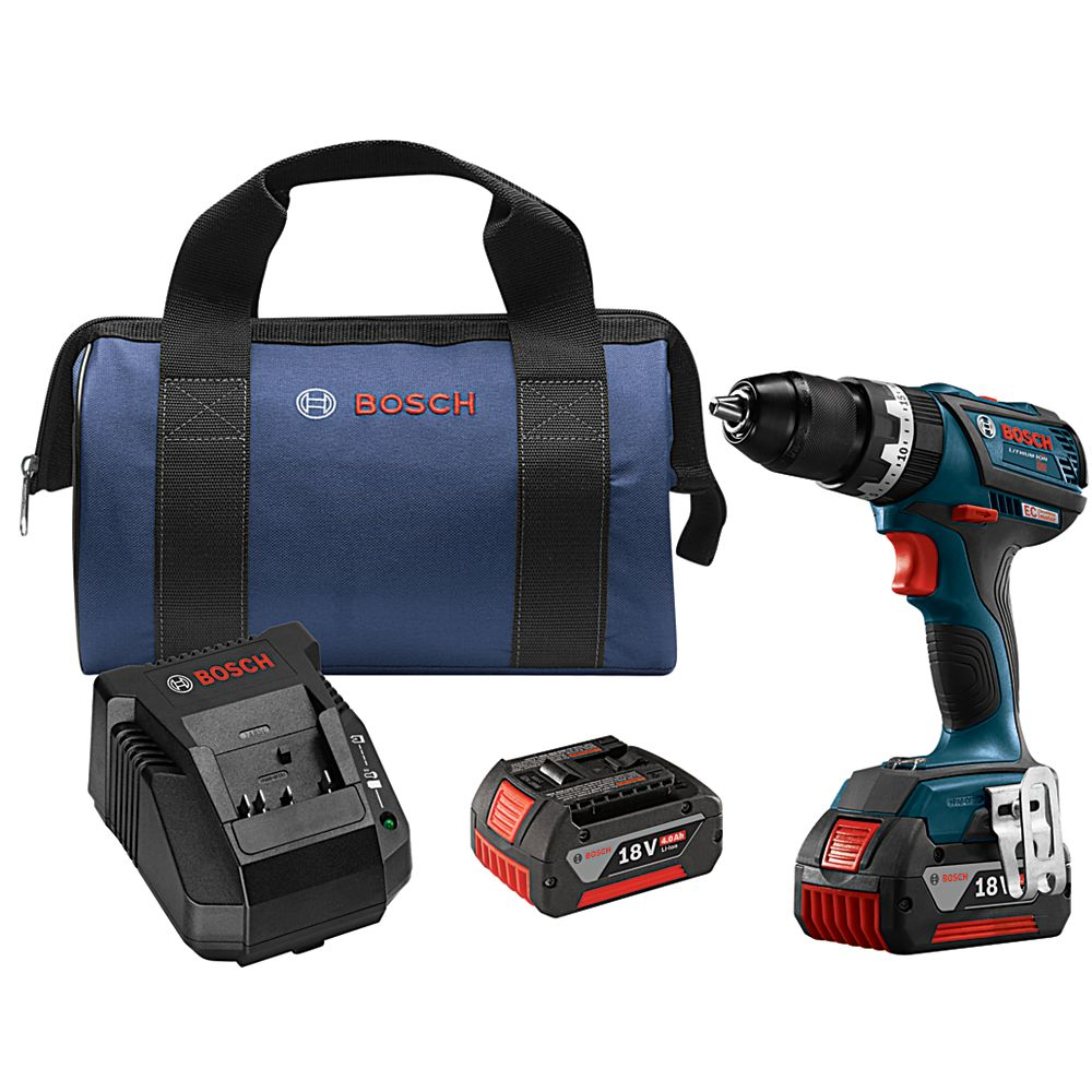 Bosch 18V EC Brushless Compact Tough 1/2 Inch Hammer Drill/Driver Kit