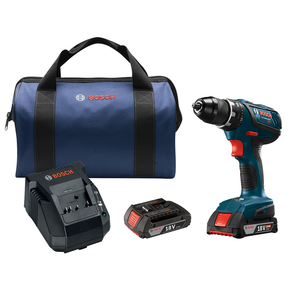 Bosch Compact Tough 18V Cordless 1/2-inch Drill/Driver with 2 Batteries & Charger