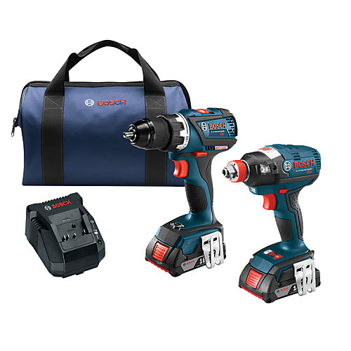18V Li-Ion Cordless Brushless Drill & Driver Combo Kit with 2 Batteries & Charger