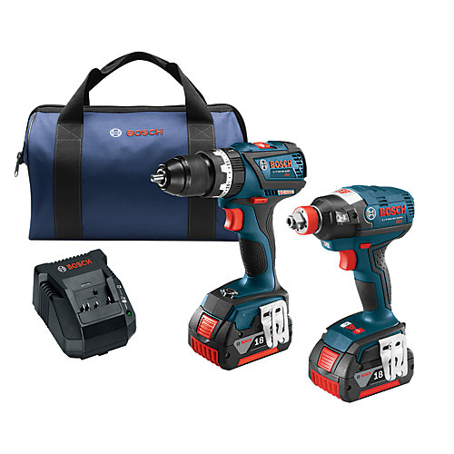 18V Li-Ion Cordless Brushless Drill & Impact Driver Combo Kit with 2 Batteries & Charger