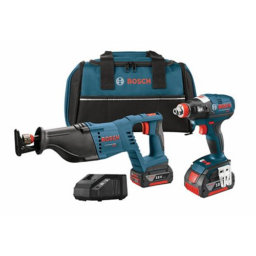18 V 2-Tool Kit with EC Brushles socket-Ready Impact Driver and Reciprocating Saw