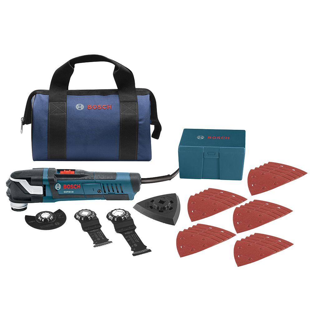 Bosch 4 Amp Corded StarlockPlus Oscillating Multi-Tool Kit (32-Piece)