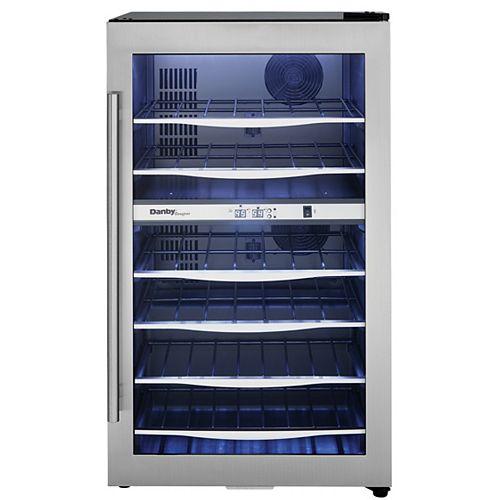 Danby Designer 38 Bouteille Refroidisseurs à vin D'Acier Inoxydable