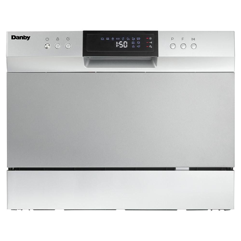 Danby Lave-Vaisselle de Comptoir de 6 Couverts en Argent - ENERGY STAR®