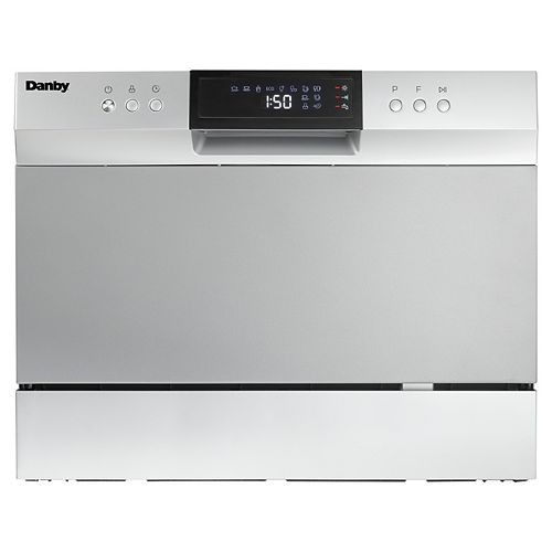 6 Place Setting Countertop Dishwasher in Silver -- ENERGY STAR®