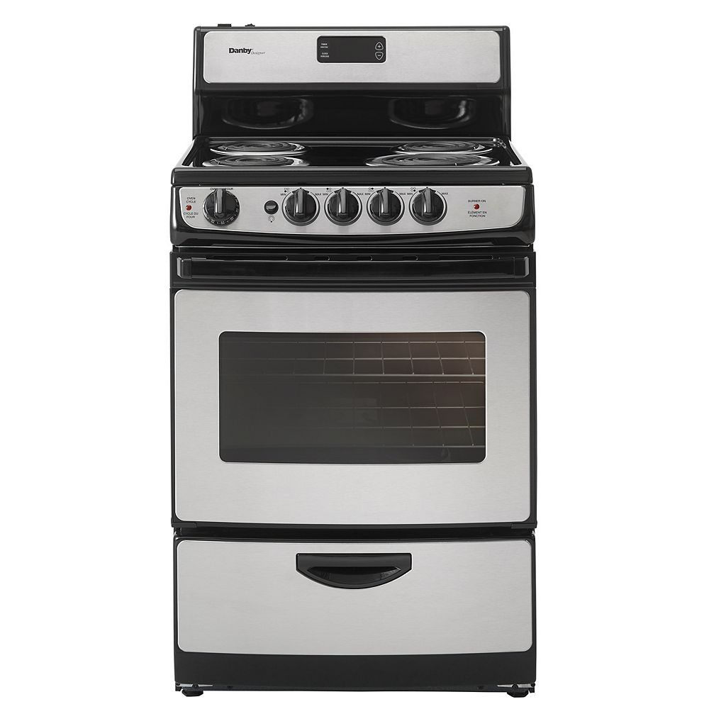 Danby 3 cu. Feet / 24 Inch Wide  Stainless Steel Electric Range