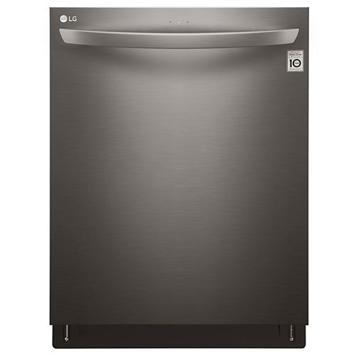 24-inch Top-Control Dishwasher with QuadWash in Black Stainless Steel - ENERGY STAR®