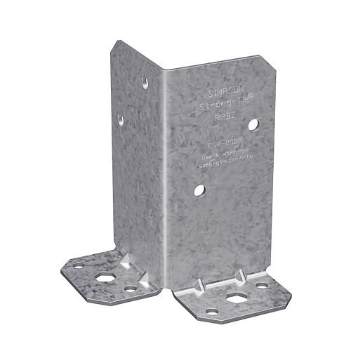 RPBZ ZMAX Galvanized Retrofit Post Base for Double 2x4