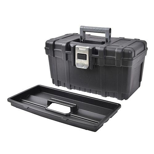 Husky Boîte à outils avec loquet en métal, 16 po