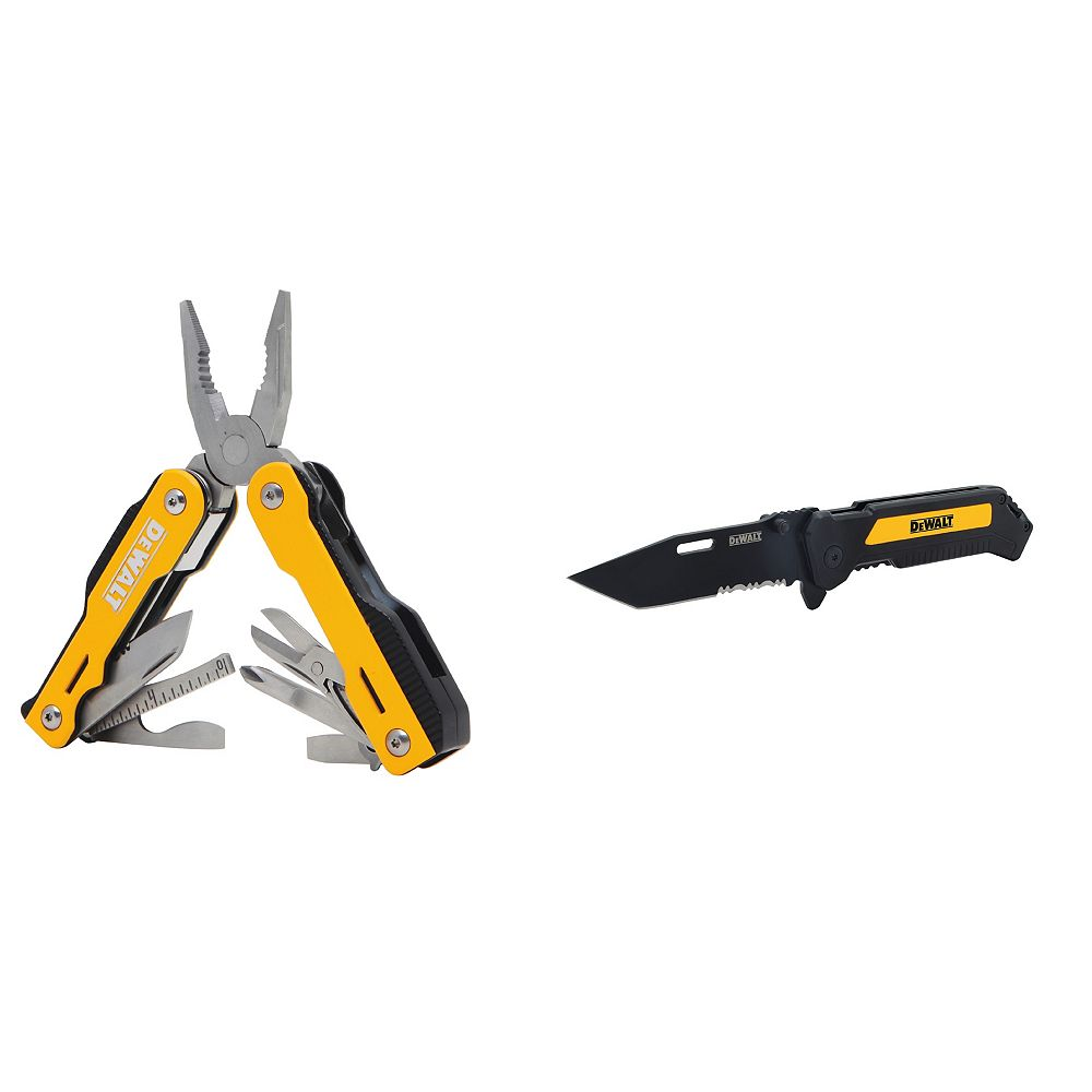DEWALT Folding Pocket Knife & 16 inch 1 Multi-Tool Combo Pack