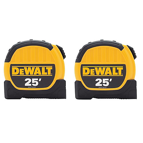 25 ft. x 1-1/8-inch Tape Measure (2-Pack)