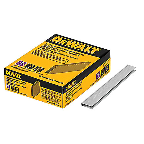 3/4-inch x 7/32-inch 18-Gauge Glue Collated Narrow Crown Staples (5,000 per Box)