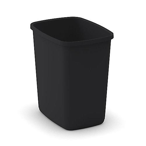 25L Metro Open Wastebasket Black