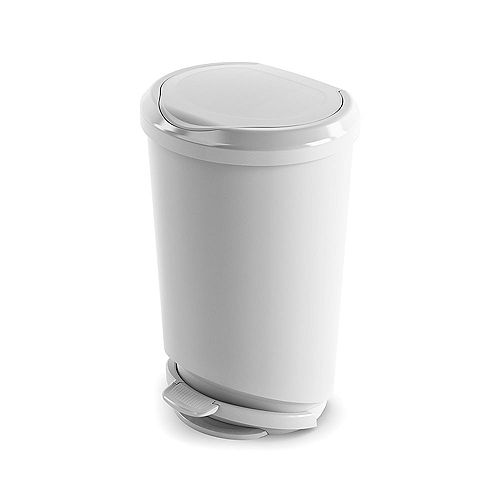 42 L Tondo Step-On Waste Bin in White