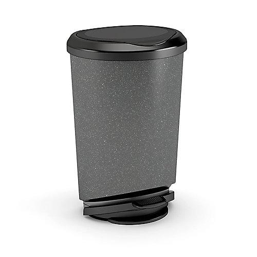 42 L Tondo Step-On Waste Bin, Granite
