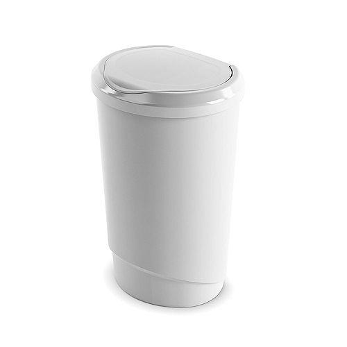 47 L Tondo Touch Waste Bin in White