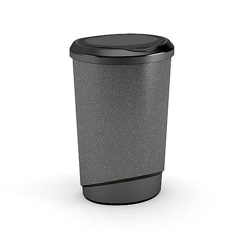 47 L Tondo Touch Waste Bin in Granite