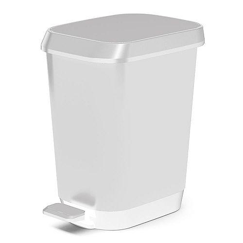 26 L Quadro Waste Bin in White