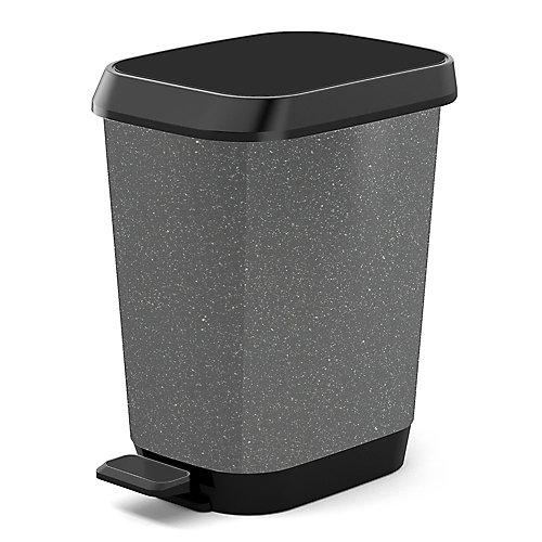 26L Quadro Waste Bin, Granite