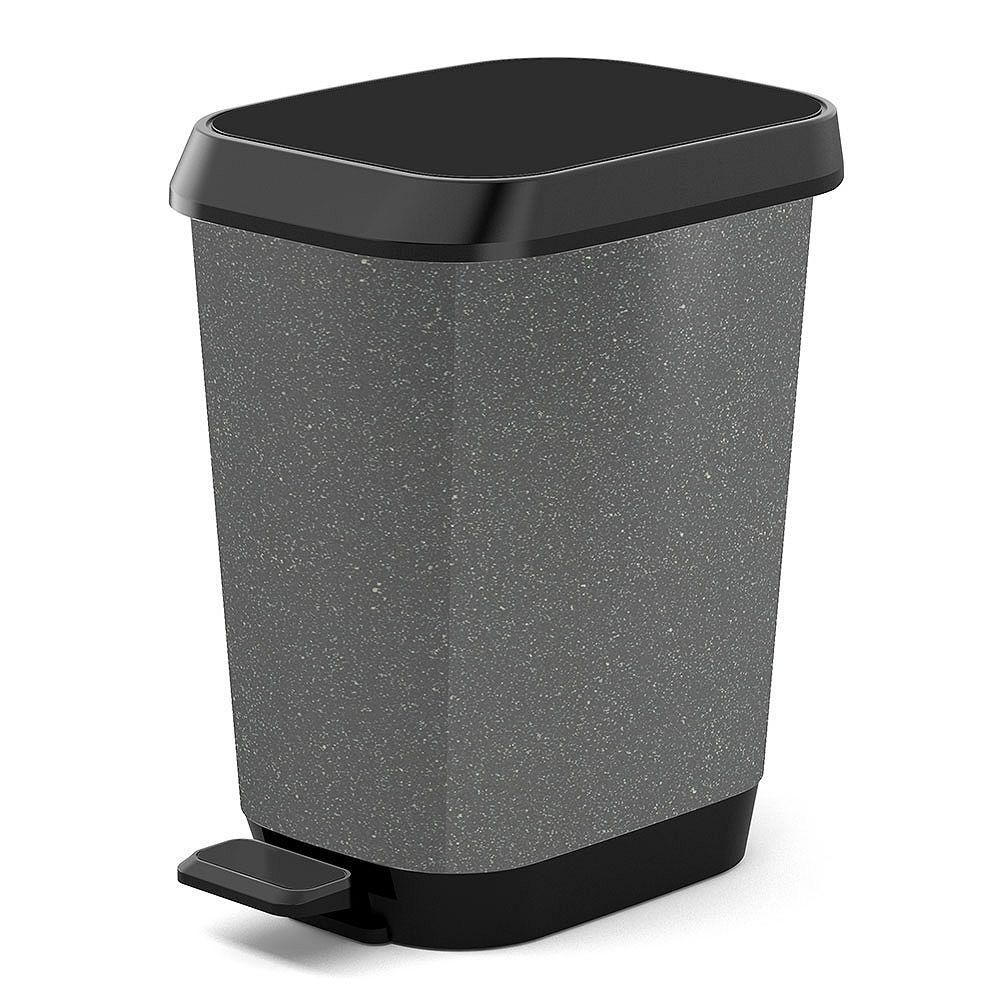 HDX 26 L Quadro Waste Bin in Granite