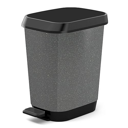 26 L Quadro Waste Bin in Granite