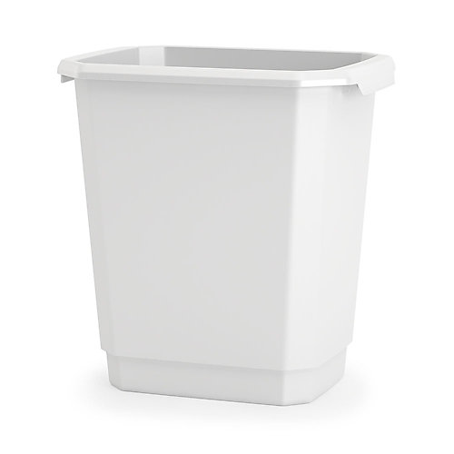 13.7L Studio Waste Bin, White
