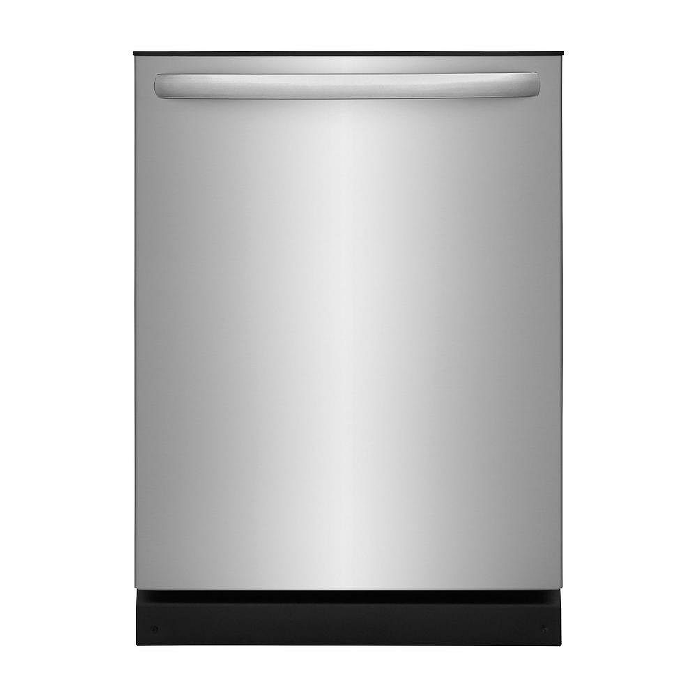 Frigidaire 24-inch Dishwasher in Stainless Steel with Polymer Tub and OrbitClean Spray Arm