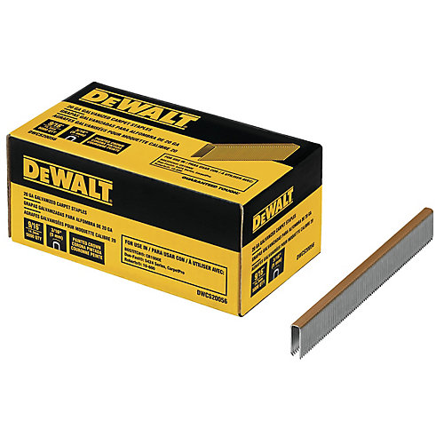 20-Gauge 9/16 inch L Galvanized Carpet Staples (5,000-Box)